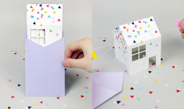 3D Paper House Invitations