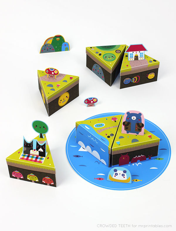 Modular Paper Island Playsets