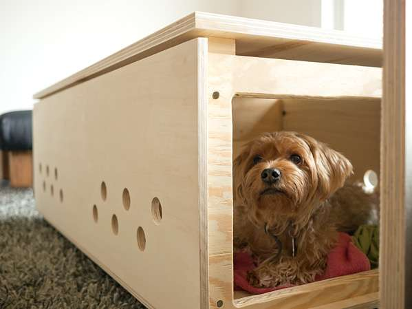 Dual Purpose Dog Hideaways Diy Pet Crate Coffee Table