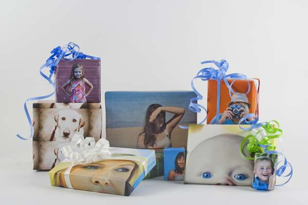 DIY Photo Wrapping Paper