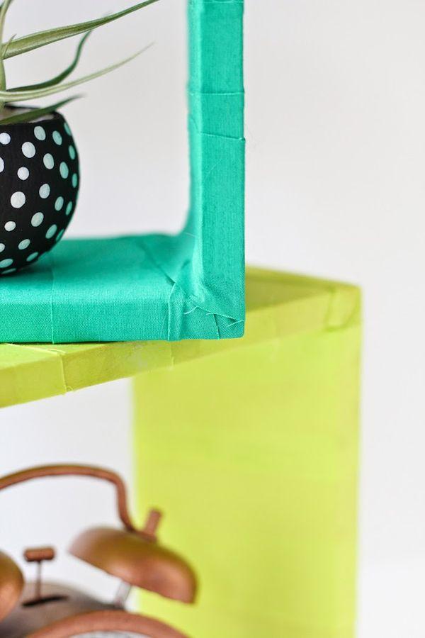 Fabric-Wrapped Shelves