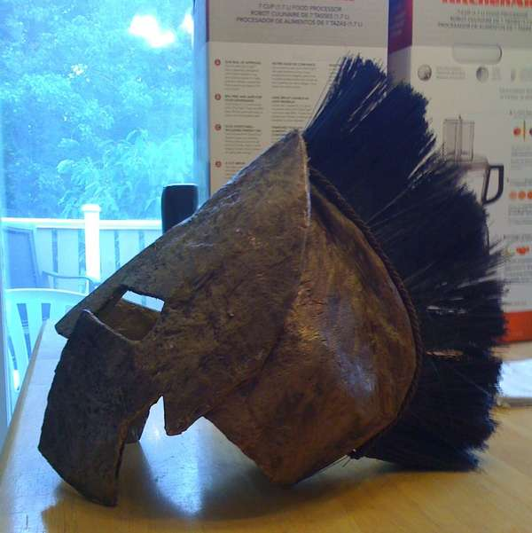 Cardboard Greek Warrior Headgear