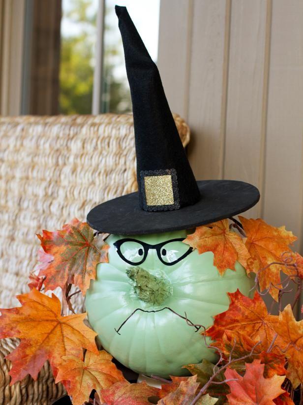 DIY Witch Pumpkins
