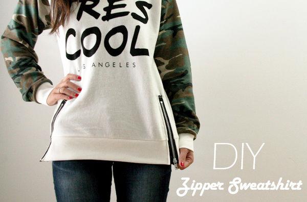 DIY Zippered Sweaters