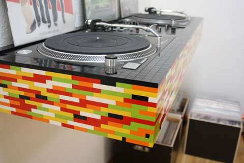 DJ Deck Built From Lego