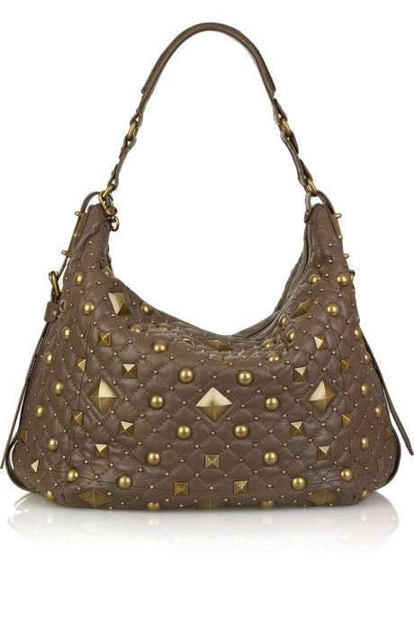 DKNY Studded Leather Shoulder Bag
