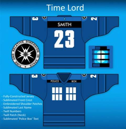 Doctor Who hockey jersey