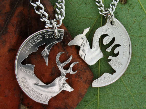Loving Deer Coin Necklaces