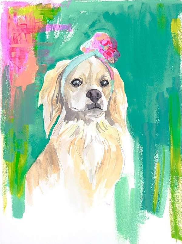 Vibrant Canine Watercolors