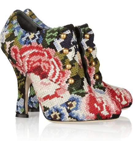 Floral Needlework Heels
