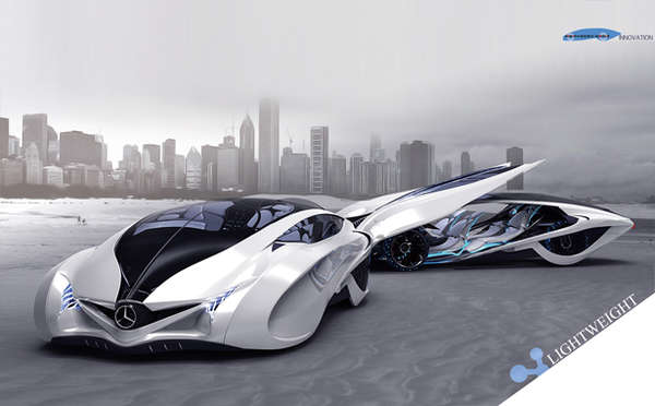 Streamlined Family Sports Cars : Dolphin Concept Car