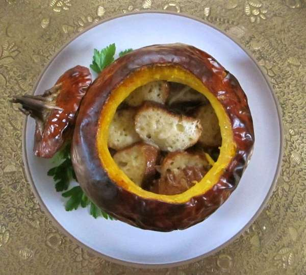 Gourd-Encased Swiss Dishes