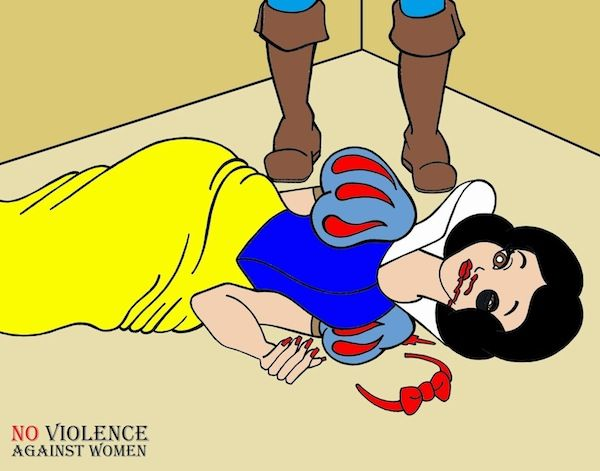 Domestic Violence Cartoon Illustrations