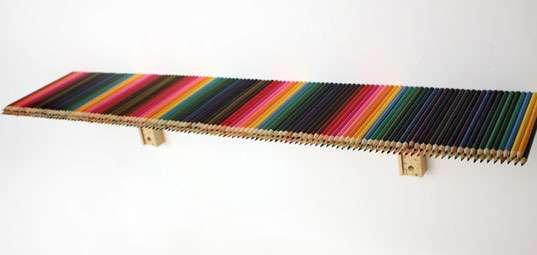 Vibrant Rainbow Shelving