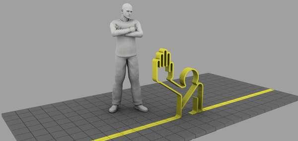 Sculptural Crossing Guards