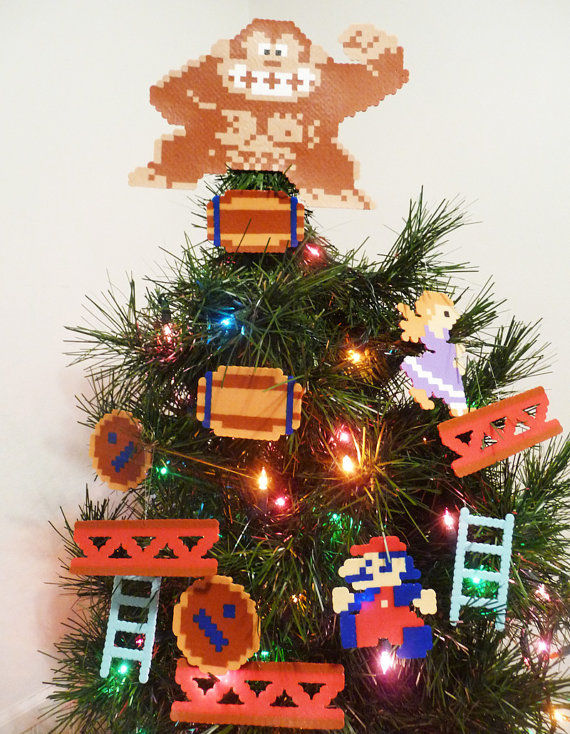 Donkey Kong Christmas Ornaments