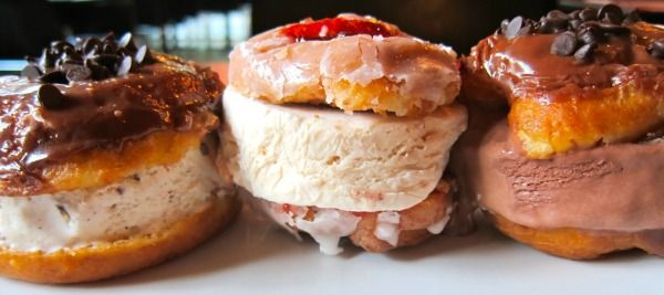 donut ice cream sandwiches