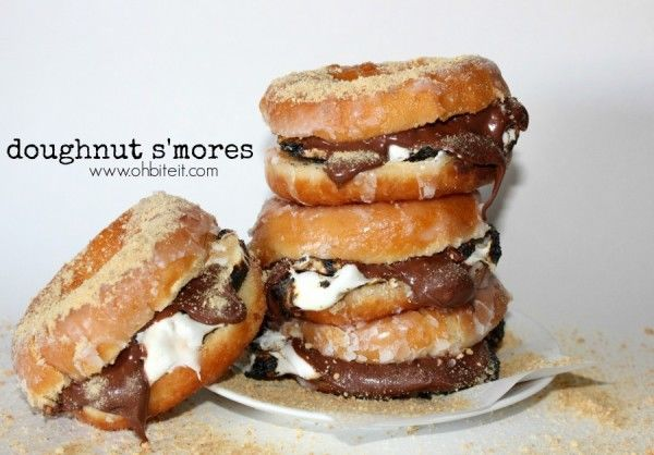 Donut Bacon Sandwich Donut S'more Sandwiches