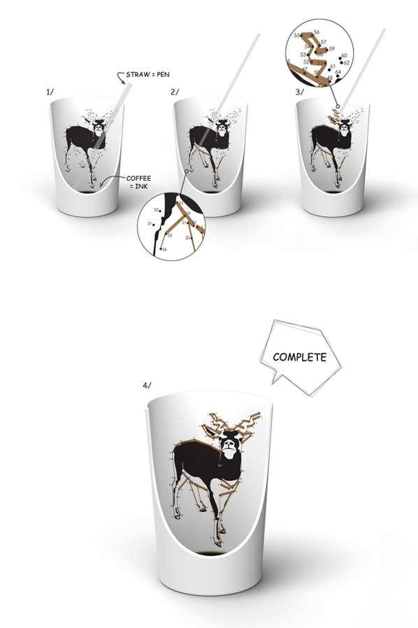 Dot-Designed Mugs