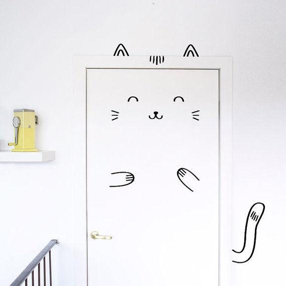 Feline Door Decals