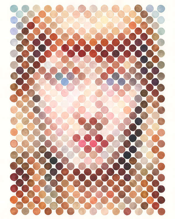 Dotted Paint Portraits