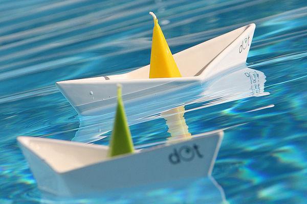 Paper Sailboat Taper Stands