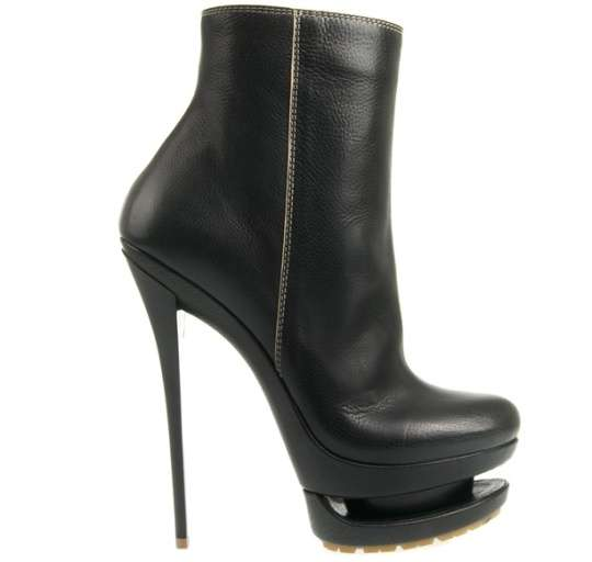 double platform boots sky high calf boots by gianmarco