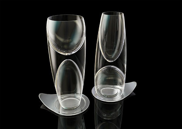 Double-Ended Wine Glasses