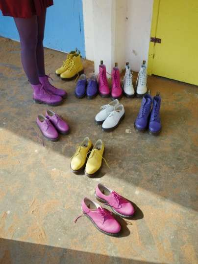 Candy-Colored Chunky Boots