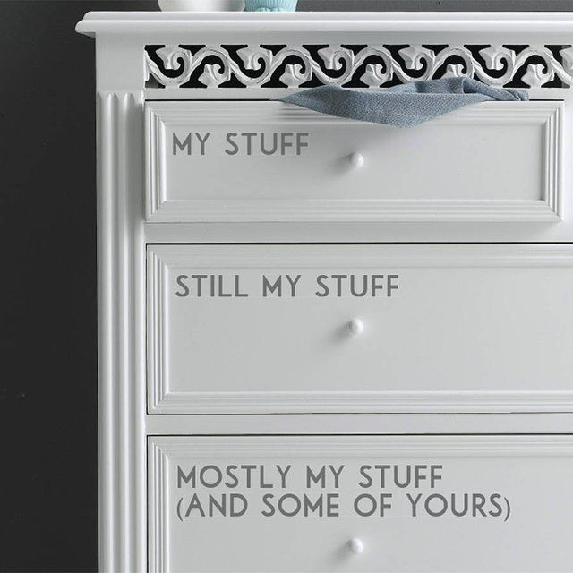 Personalized Drawer Decals