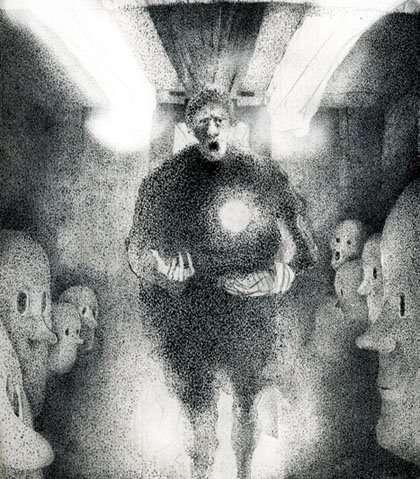 Haunted Train Art