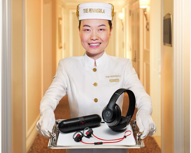 Complimentary Hotel Headphones