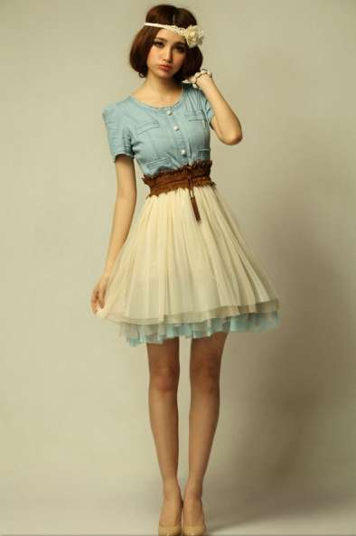 Denim Babydoll Dresses