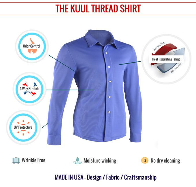 Self-Cooling Dress Shirts