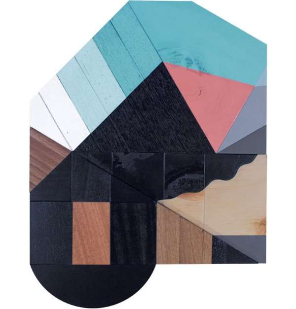 Color-Blocked Wood Collages