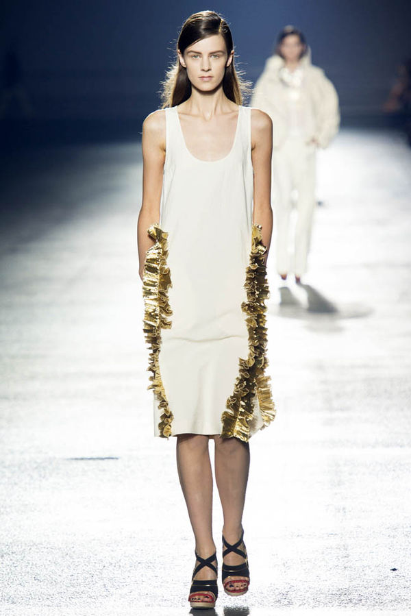 Lavish Gold-Flecked Fashions