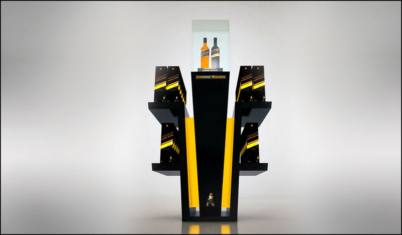Drink-Shaped Whiskey Displays