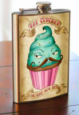 Manly Cupcake Flasks