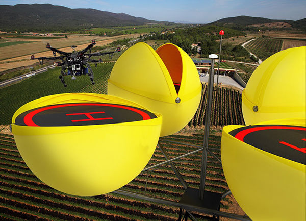 Spherical Drone Docks