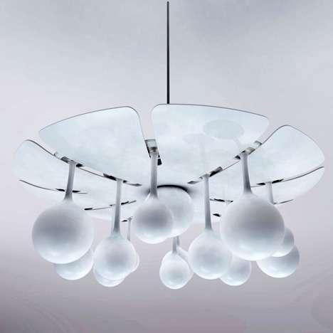 Chandelier Bulbs as Mini Lamps