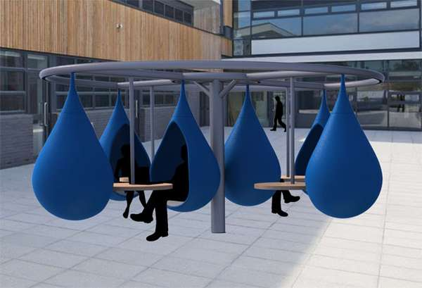 Droplet outdoor workspace