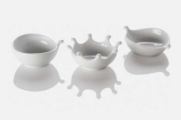 Bespattering Milk Bowls