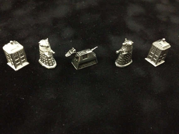 Dr.Who Monopoly Pieces