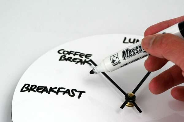 Dry Erase Board Wall Clock