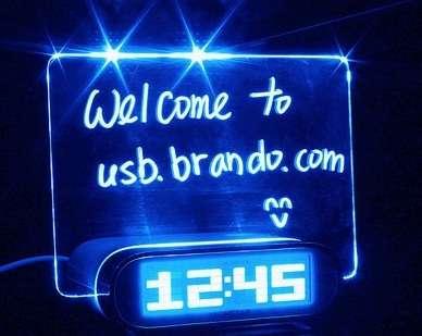 Illuminated Message Clocks