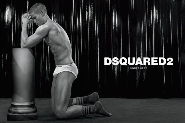 Statuesque Undergarment Fashion Campaigns