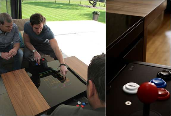 dual arcade table by surface tension