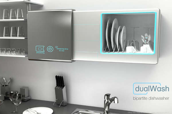 DualWash Bipartite Dishwasher