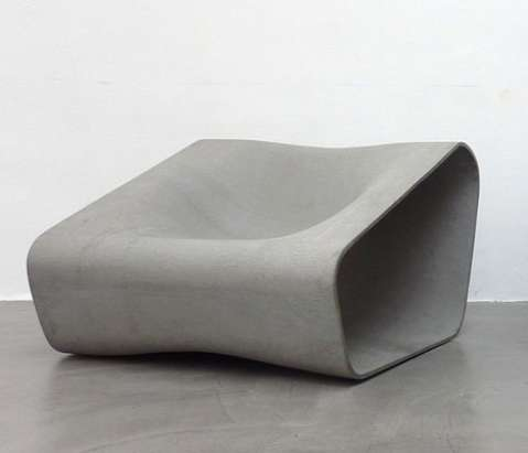 Curvy Cement Couches