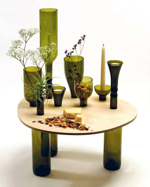 Bottle-Made Wine Tables